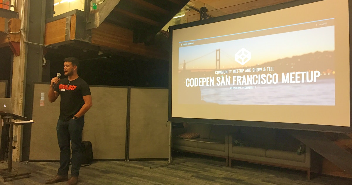 imgix blog | Reflections on the First CodePen SF meetup