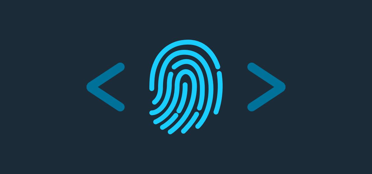 A fingerprint between angle brackets