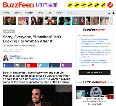 Content screenshot from Buzzfeed