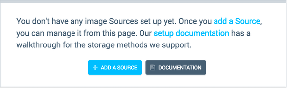 Screenshot-Message telling you to add a Source