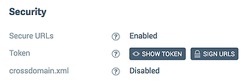Security enabled in dashboard