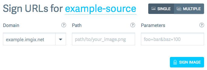 Single-Image Signing form