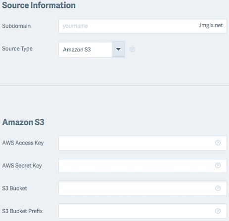 Screenshot-Amazon S3 source setup