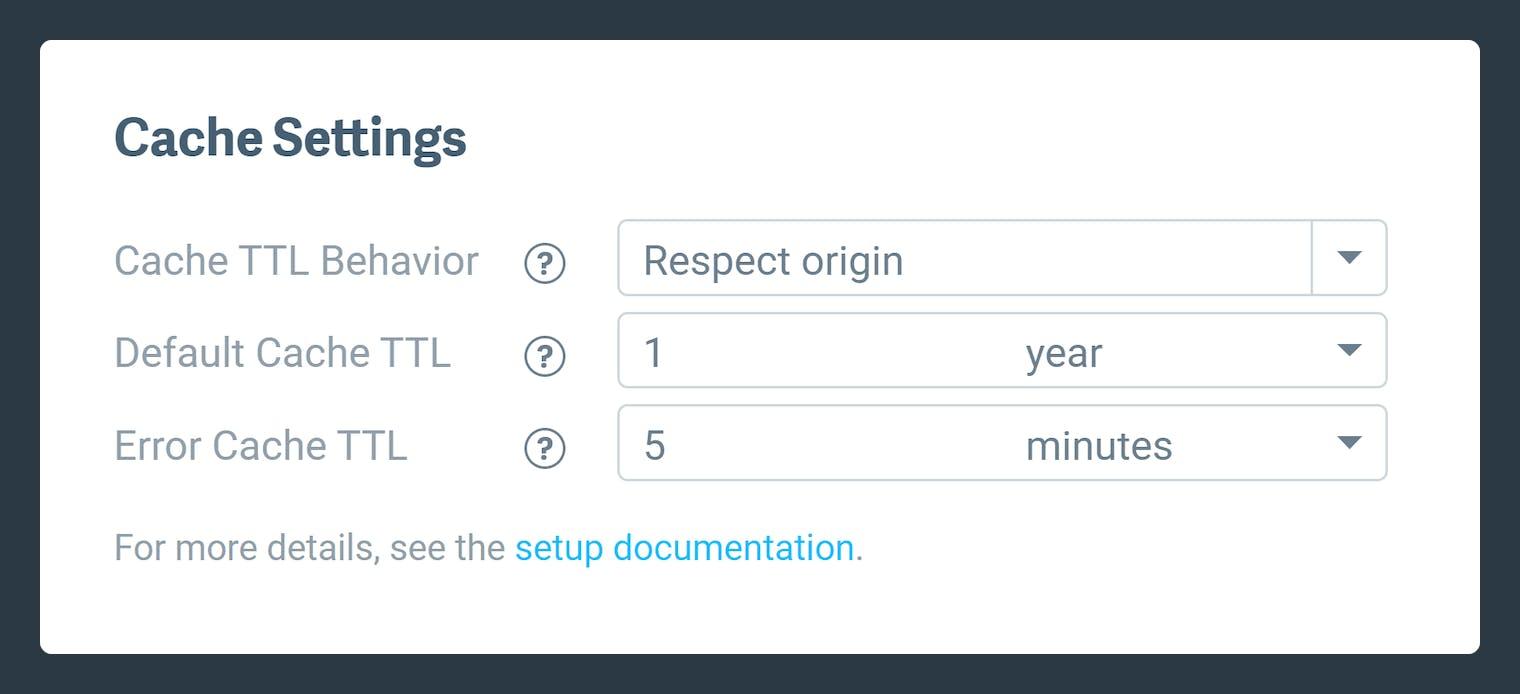 Screenshot-Cache TTL source setup