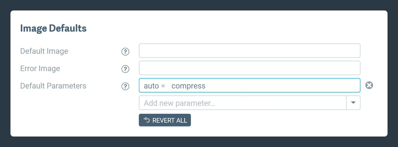 Screenshot-Default parameter setup