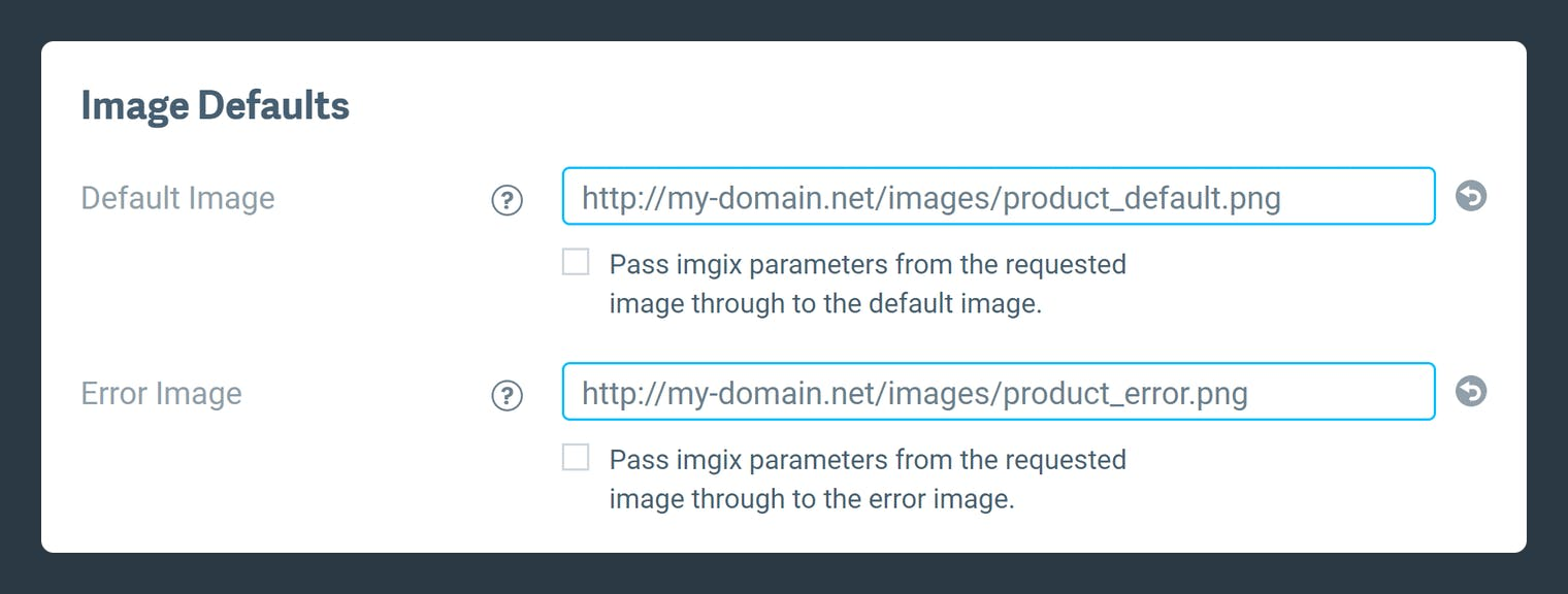 Screenshot-Default image setup