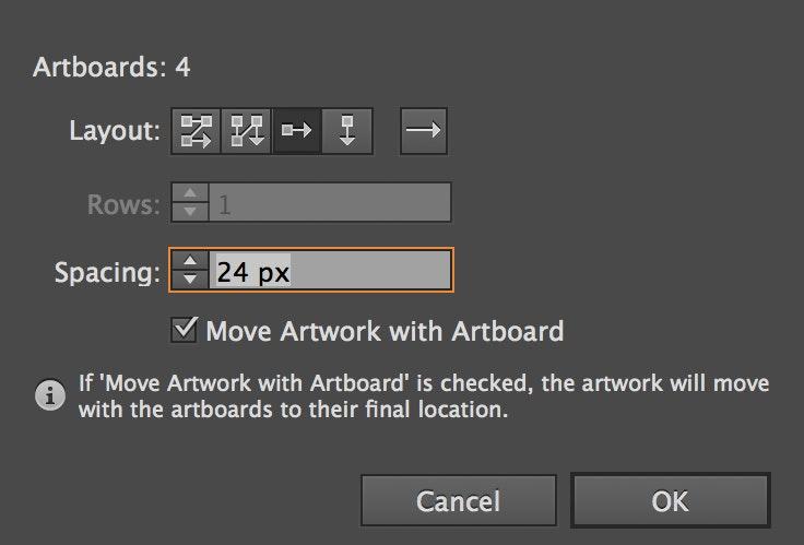 Artboard management