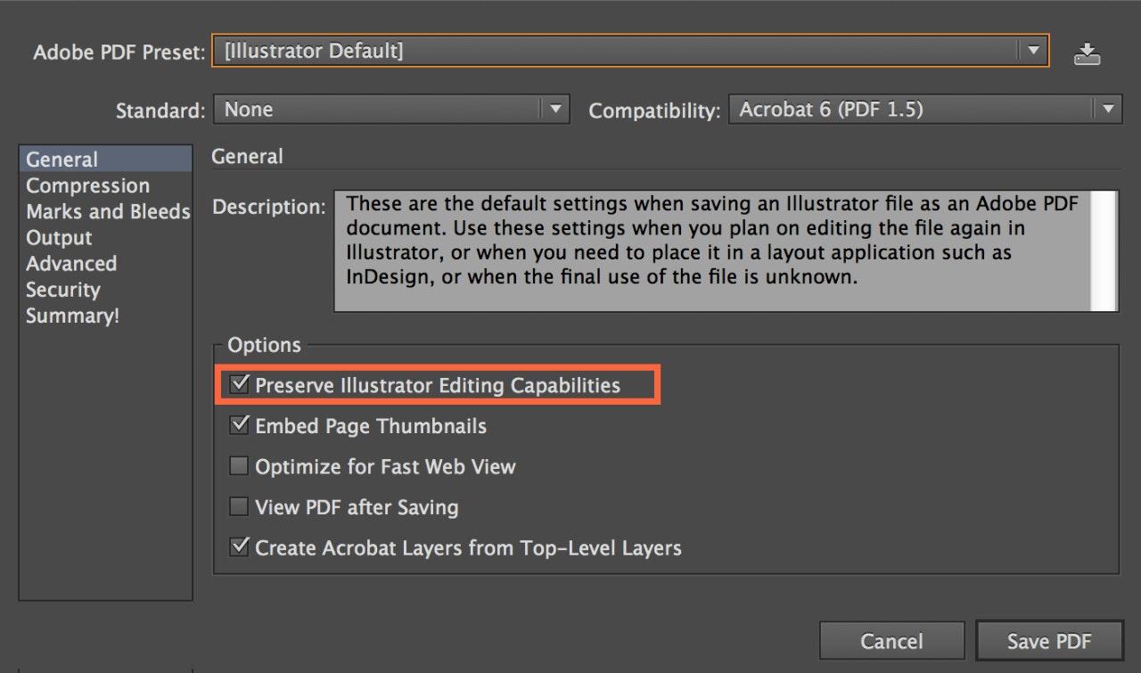 Saving PDF file