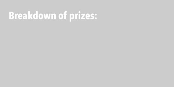 Breakdown of prizes: